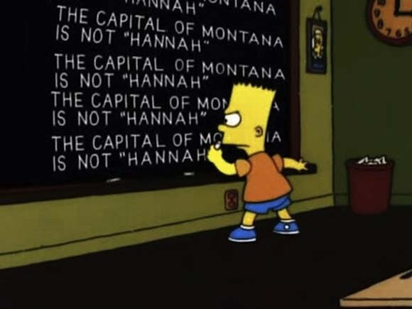 Funny Bart blackboard writings