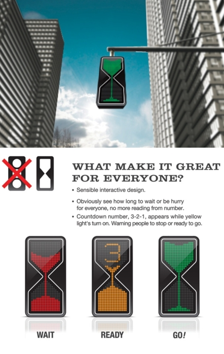 Life-Altering Traffic Light Design Concept of the Day: While...